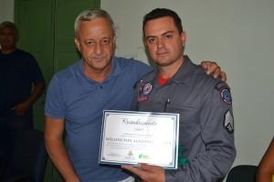 2º sargento do Corpo de Bombeiros, Wellington e Dr. Ivar/Foto:Divulgação