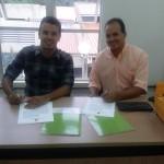 Foto do presidente da Fumcult e o diretor do IFMGCampus Congonhas. Credito Greiciane Moreira