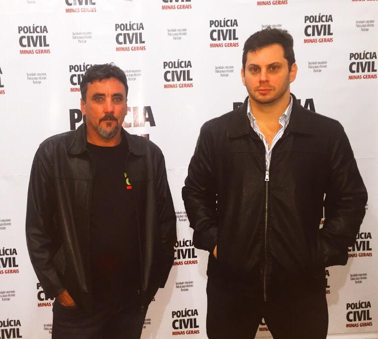 O Subinspetor João Carlos Trigo e o Delegado Mauricio Carrapatoso