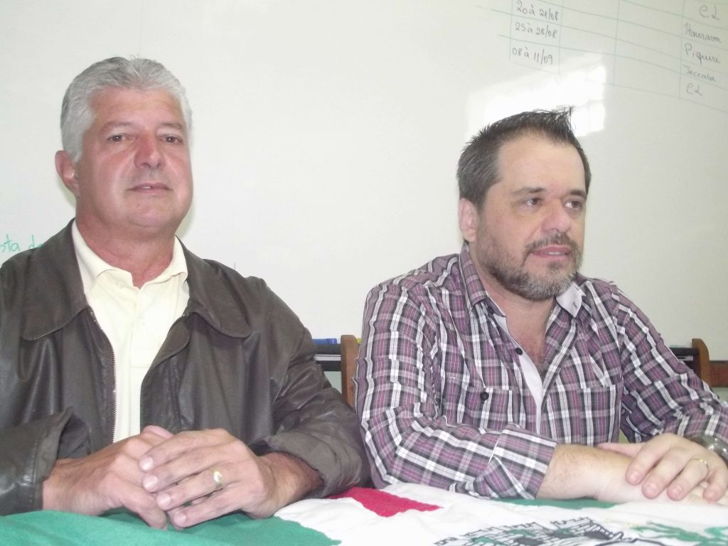 O pré candidato Mário Marcos (DEM) e o deputado estadual Glaycon Franco