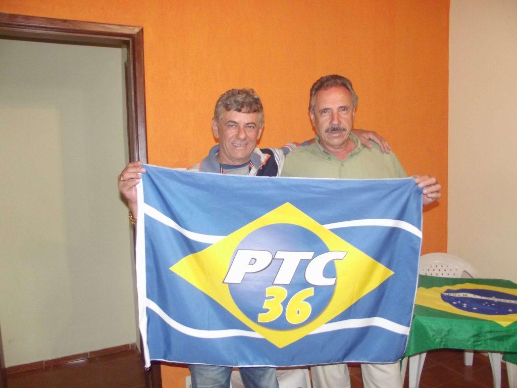 O pré candidato Edie Rezende e seu colega de partido o prefeito de Itaverava Nicolau Carvalho/Foto:CORREIO DE MINAS