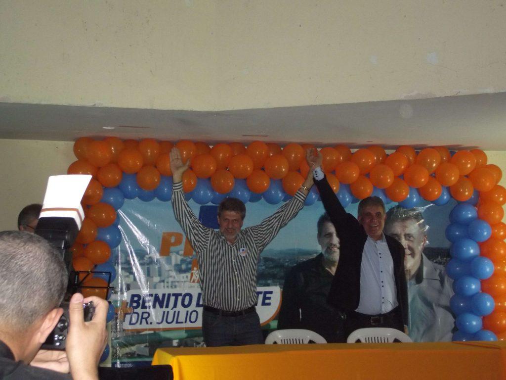 Benito Laporte e Júlio Barros durante lançamento de candidatura