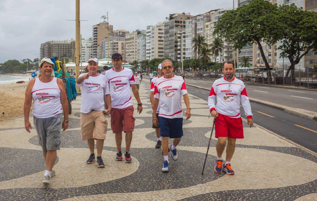 Caminhada do calçadão de Copacabana