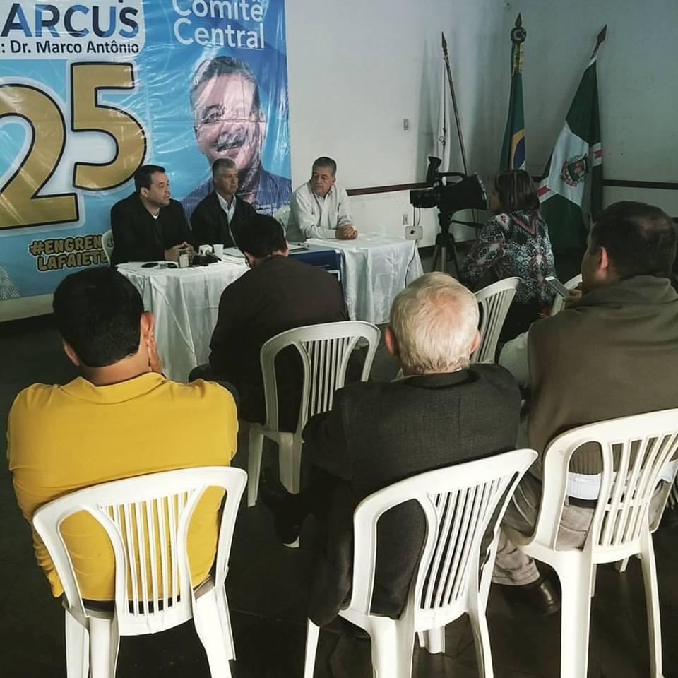 Deputado estadual Glaycon Franco, prefeito eleito Mário Marcus, vice Dr. Marco Antônio