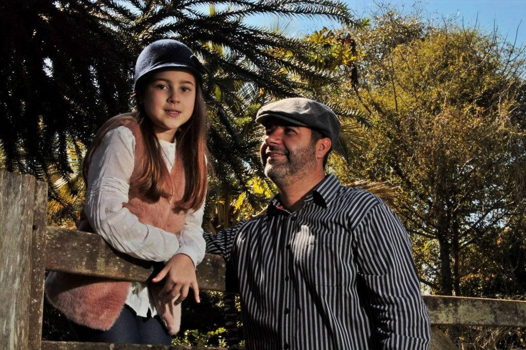 Ana Helena e o pai Waidd/duardo Sacramento