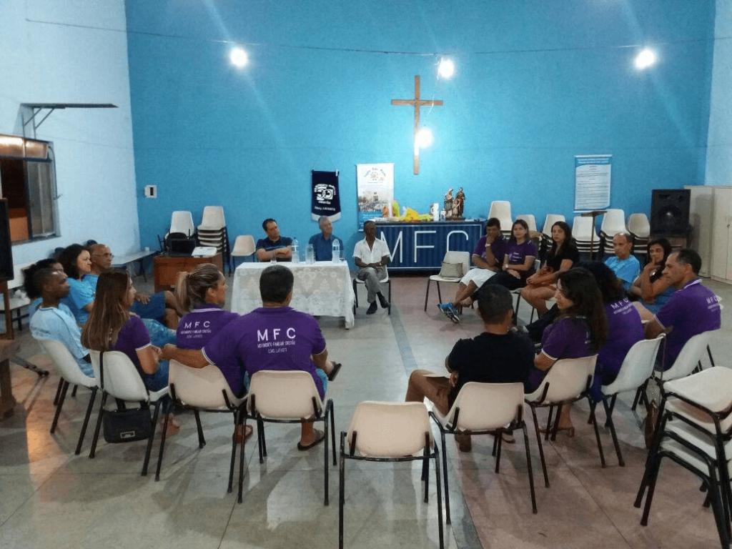 Deputado Glaycon, prefeito eleito, Mário Marcus e lideranças do MFC