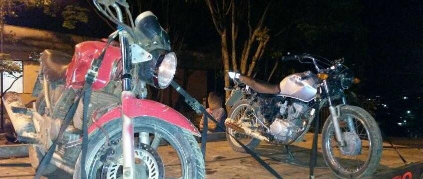 Motos usada no assalto a supermercado/Divulgação