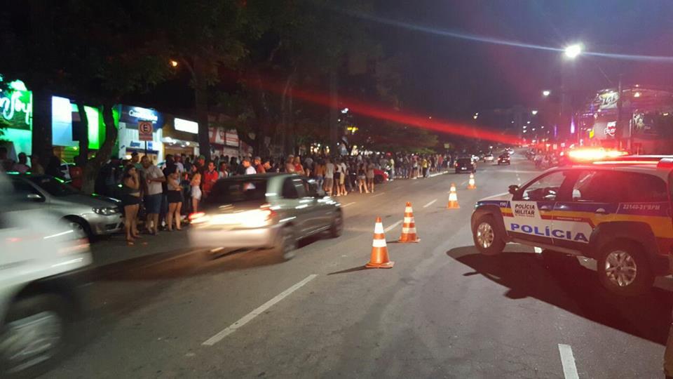 Polícia intensifica atuação na avenida/Reprodução