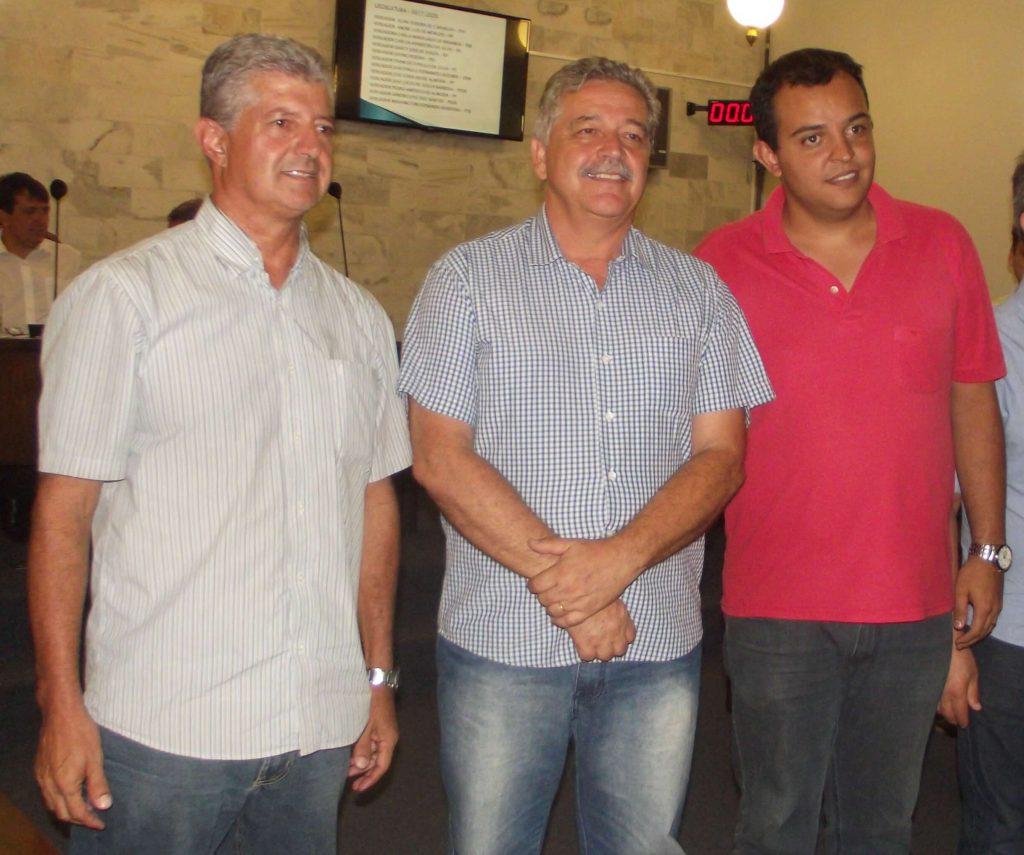 Vereador João Paulo, Mário Marcus, Marco Antônio /CORREIO DE MINAS