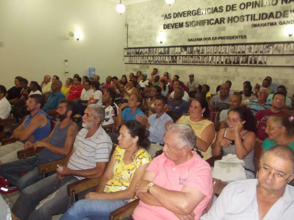 Moradores do Triangulo II vêm lotando as sessões da Câmara para assegurar os direitos a moradia digna/CORREIO DE MINAS