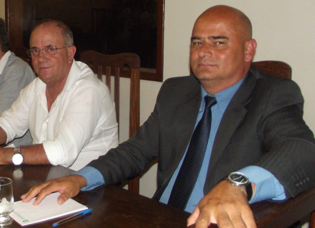 O Diretor do Presídio, Gelsimar Neves, e o presidente da APAC, Marco Antônio da Silva/CORREIO DE MINAS