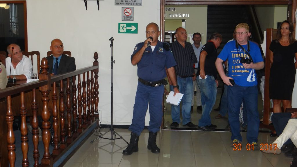 O Gerente Interino, Sandro Luiz, cobrou investimentos na Guarda Municipal/Alair Xavier