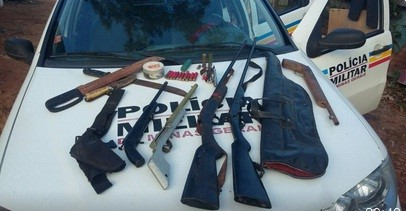 Materiais apreendidos pela polícia