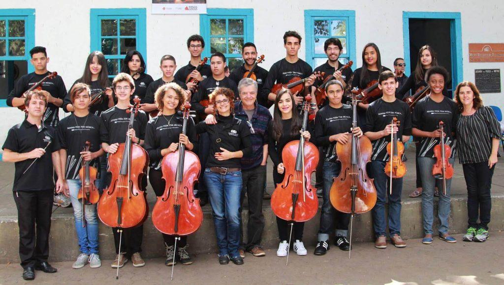 A apresentação da Orquestra Jovem de Divinópolis faz parte da abertura da celebração dos 260 anos de devoção a Bom Jesus de Matosinhos em Congonhas/Divulgação