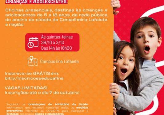 Una Lafaiete oferece aulas gratuitas sobre gestão financeira e sustentabilidade para crianças e adolescentes da rede pública de ensino